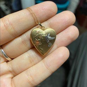 10k Gold Chain w/ Gold Filled Heart Locket